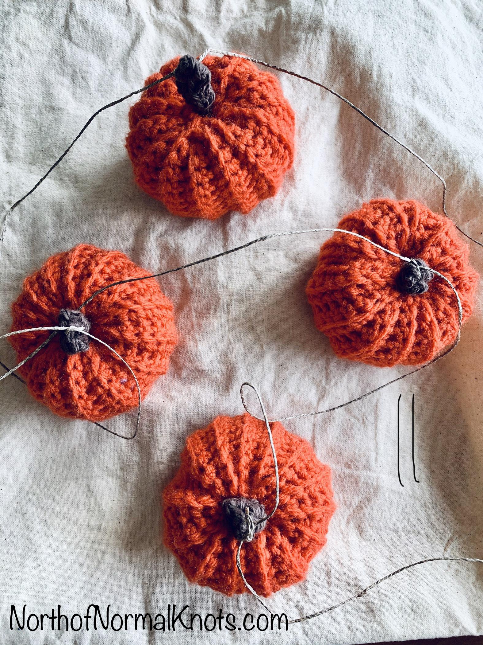 Crochet Pumpkin Garland
